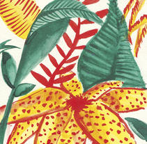 Tropical Print. A Design, Illustration, Fashion, Graphic Design, and Painting project by Cristina Camazón Herráez         - 18.06.2016