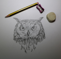 The old owl!. A Illustration, and Fine Art project by alberto martinez romero         - 12.04.2016