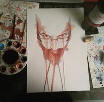 Retrato con Vino. Un proyecto de Ilustración de Juan Sebastian Cárdenas Rodríguez         - 22.06.2016