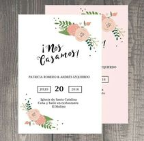 Invitaciones de Boda. A Design, and Fine Art project by Cirera Estudio         - 05.07.2016