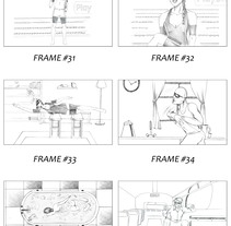 "Storyboard for Playstation4 ""April´s fool"". A Illustration, Film, Video, TV, and Graphic Design project by Raul Viera         - 05.07.2016"
