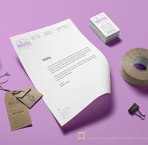 Indigo & Plata / Joyería de Autor. A Br, ing, Identit, and Graphic Design project by Laura López Sola - 07-07-2016