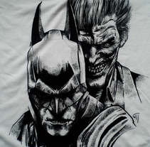 Ilustración Batman y Joker en camiseta. A Illustration project by Maite Gutiérrez         - 28.06.2015