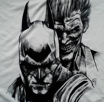 Ilustración Batman y Joker en camiseta. Un proyecto de Ilustración de Maite Gutiérrez - 28-06-2015