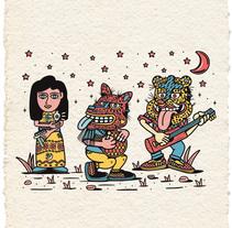 Los Músicos. A Design, Illustration, and Character Design project by Alan Mendoza - Jul 14 2016 12:00 AM