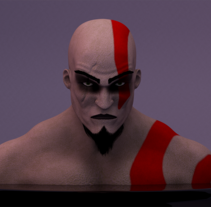 Kratos - God of War. Un proyecto de 3D de Joseito Lobato         - 14.07.2016