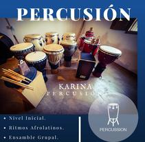 Flyer Taller de Percusión. A Product Design project by Lina Mireille - 25-07-2016