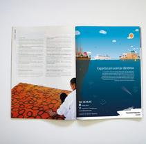 Gráfica para Trasmediterranea. A Graphic Design project by Alejandro Gonzalez Cuenca         - 26.07.2016