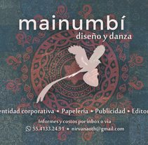 Mainumbí Diseño. A Photograph, Editorial Design, and Graphic Design project by Paulina Vega  - 31-07-2016