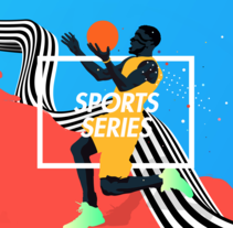 Sports Series . A Illustration, Art Direction, Editorial Design, and Graphic Design project by Adolfo Correa - 02-08-2016
