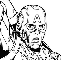 Capitán América - El Soldado de Invierno. Um projeto de Design, Ilustração, Publicidade, Animação, Design de personagens, Artes plásticas, Pintura, História em quadrinhos e Cinema de David Cabeza Ruiz         - 21.07.2016