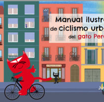 Manual ilustrado de ciclismo urbano del gato Peáltez. A Design, Editorial Design, and Graphic Design project by Elisabeth Sánchez Hernández         - 09.08.2016