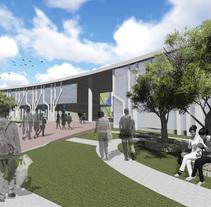 """""""Escuela de artes Escénicas para barrio San Martín"""" (Primera aproximacion) - UNC/FAUD. Um projeto de Arquitetura, Educação e Artes plásticas de Gabriel Garcia         - 24.08.2016"""