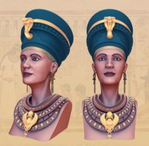 Nefertiti. A Illustration, 3D, Art Direction, Character Design, and Fine Art project by Dídac Soto Valdés - 29-08-2016