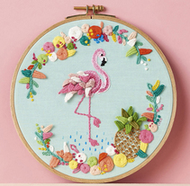 """Tropical Flamingo"" Molliemakes. A Illustration, Art Direction, and Crafts project by Señorita Lylo - 01-09-2016"