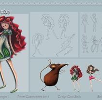 Diseño Personajes I . Un proyecto de Diseño de personajes de Evelyn Cruz Solis         - 20.04.2016