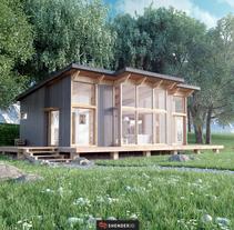 Casa Escandinava. Un proyecto de Diseño, Motion Graphics, 3D, Arquitectura y Dirección de arte de Shender3d  - 07-09-2016