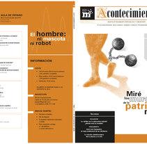 Revista Acontecimiento. Un proyecto de Ilustración, 3D, Diseño editorial y Diseño gráfico de Ana Cristina Martín  Alcrudo - 12-07-2016