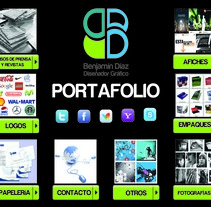 Portafolio. A Design, Br, ing, Identit, Editorial Design, Graphic Design, Product Design, Web Design, and Web Development project by Benjamin Diaz Hernandez         - 16.09.2016
