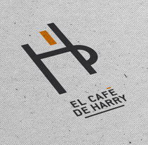 Branding Logotipo El Café de Harry. A Art Direction, Br, ing, Identit, and Street Art project by Carlo Paredes         - 15.09.2016