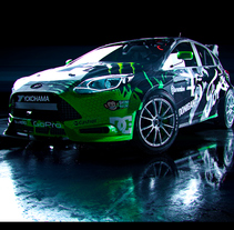 Ford Focus RS RX. A Design, Motion Graphics, Film, Video, TV, 3D, Animation, Art Direction, Automotive Design, Film Title Design, Post-Production, Video, and VFX project by Alberto Luque - 29-09-2016