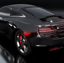 3D Car McLaren MP4 . Un proyecto de 3D, Diseño de automoción y Diseño de producto de Yanire Delgado         - 05.09.2016