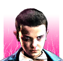 Stranger Things :: Eleven : I´m the Monster. A Illustration project by Oscar Giménez - 04-10-2016
