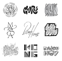 Hecho a Mano (lettering, monogramas y logos). A Br, ing, Identit, T, pograph, and Calligraph project by Quique Ollervides - 16-10-2014