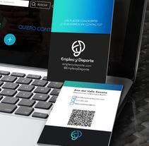 ¡Un placer conocerte! · Empleo y deporte Business Card. Un proyecto de Diseño, Br, ing e Identidad y Diseño gráfico de Ana del Valle Seoane - 02-11-2016