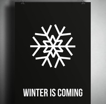 POSTER WINTER IS COMING. A Design, and Graphic Design project by Anna Garcia Montolio         - 03.11.2016