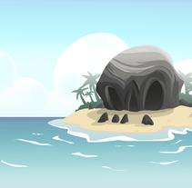BG design Video-game combat - Pirate island + platform. Um projeto de Animação, Artes plásticas, Design de jogos e História em quadrinhos de Marta sanchez         - 31.05.2016