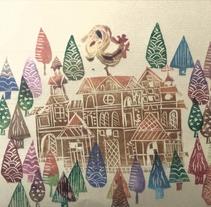 El gallo de los Cárpatos. A Illustration, and Screen-printing project by belenovich         - 05.11.2016