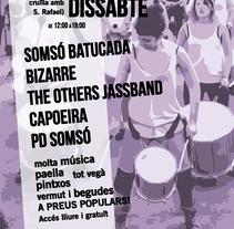 Cartelería. Evento Somsó. A Events, and Graphic Design project by Sonia Pérez Redondo         - 16.04.2016