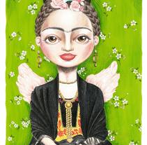 Frida. A Illustration project by Sheila Arnela - 25-11-2016