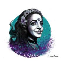 AutoRetrato ilustrado. Un proyecto de Ilustración de Mara Luna DedosPincel - 29-11-2016