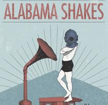 Póster Alabama Shakes. Un proyecto de Ilustración, Diseño gráfico y Collage de Carlos Vicente Punter         - 30.11.2016