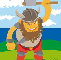 """Ilustración """"Vikingo"""". Un proyecto de Ilustración de RULO Raul Perez Sanchez         - 30.11.2016"""