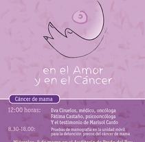 Día de la mujer: Encuentro cáncer de mama. A Illustration, and Animation project by jesus pamplona - 01-03-2017