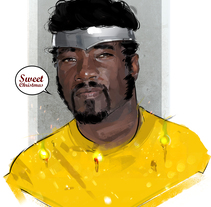 Sweet Christmas / Luke Cage. A Illustration, Film, Video, and TV project by Ismael Alabado  - 12-12-2016