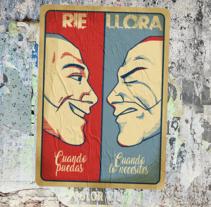 Ríe cuando puedas. Llora cuando lo necesites.. Un proyecto de Ilustración, Animación y Diseño de personajes de Rubén García - 09-01-2017
