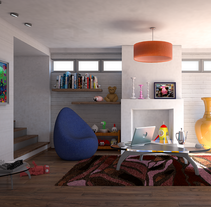 Sala familiar. A 3D, Architecture&Interior Architecture project by irene_3d         - 09.01.2017