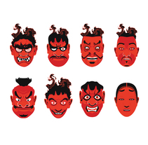 Máscaras Noh. Un proyecto de Ilustración, Diseño de personajes y Bellas Artes de Borja Junguitu - 09-01-2017
