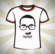 Diseño camisetas IlovePapi. A Illustration, and Graphic Design project by Rafael Cuchillo         - 12.01.2017
