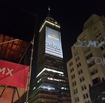 Vídeo mapping billboard Corona Capital 2016 - Torre Latino CDMX. A Motion Graphics, Events, and Street Art project by Maizz Visual         - 25.11.2016