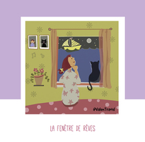 La fenêtre de rêves. A Illustration project by Valentina Urdaneta Urdaneta - 29-12-2016