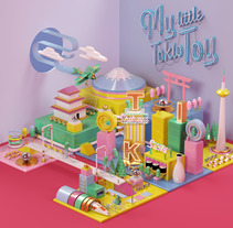 My Little Tokio Toy . A Illustration, 3D, Animation, Art Direction, and Graphic Design project by Misa Urban         - 18.01.2017