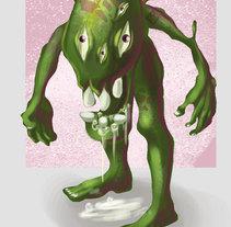 Monstruo del pantano. Un proyecto de Ilustración, Diseño de personajes y Comic de César Rebolloso Garza         - 23.01.2017