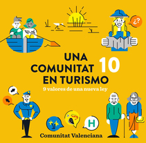 Turismo Comunitat Valenciana. A Illustration, Motion Graphics, Animation, Character Design, and Video project by MODIK  - 30-11-2016