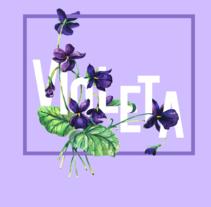Proyecto Nombre y Flores. A Design, and Collage project by Violeta Fuente         - 12.01.2017