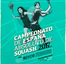 Cartel Campeonato Nacional De Squash 2017. A Design, Art Direction, and Graphic Design project by Lalo Garcia          - 28.01.2017